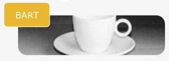 Maastricht Porselein Bart koffieservies